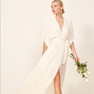 Reformation Winslow Wrap Dress-Petite Small, Ivory